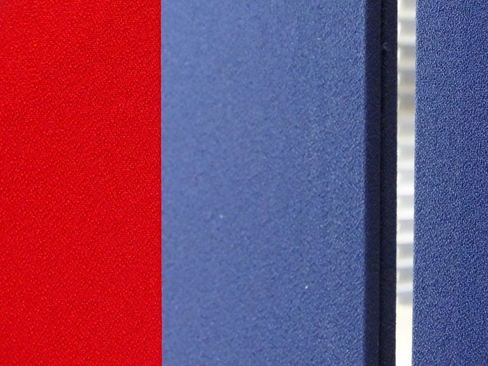 Blue & Red. Red
