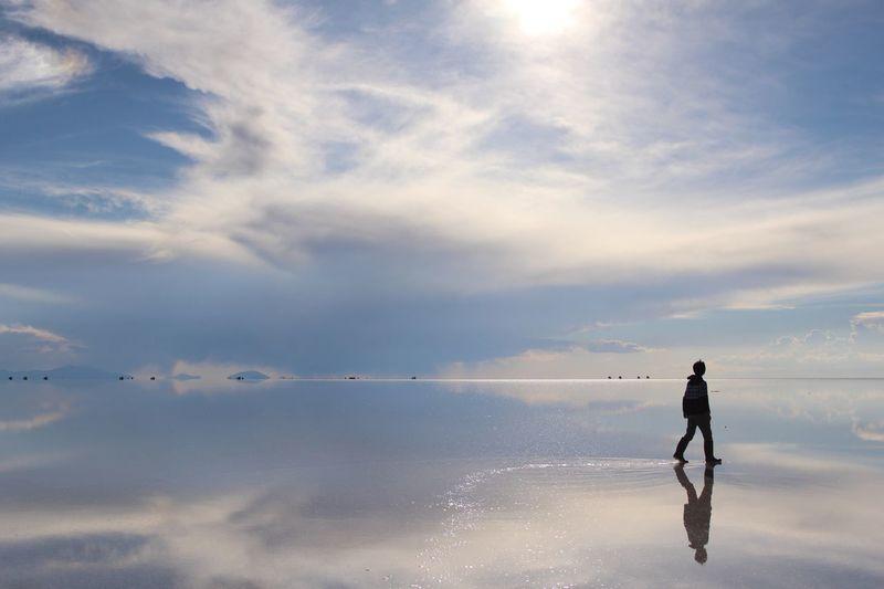Uyuni Mirror Trip Southamerica Walking