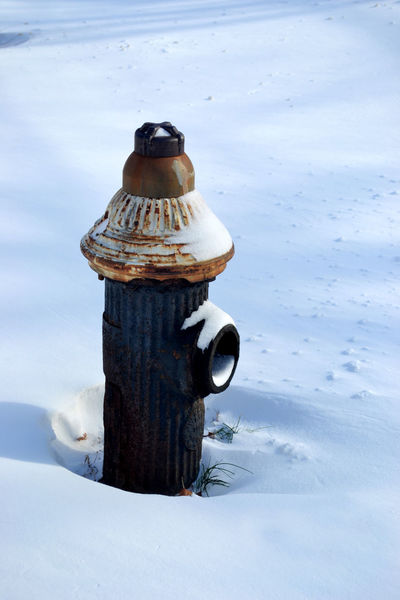 Close-up Cold Temperature Covering Day Fire Hydrant Focus On Foreground Nature No People Non-urban Scene Old Outdoors Scenics Season  Snow Tranquil Scene Tranquility Weather White Winter