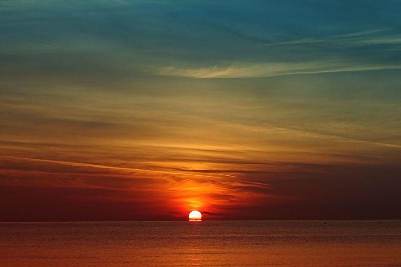 Sunrise Travel Travel Destinations Sky Sunset Sea Water Beauty In Nature Horizon Over Water Scenics - Nature Land Beach Tranquil Scene Tranquility Dramatic Sky Orange Color Romantic Sky Cloud - Sky Sun Horizon No People Nature Idyllic