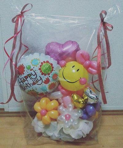 バルーンギフト バルーン 風船 贈り物 Balloon Present Birthday Happy Balloongift Gift アレンジメント Arrangement ニコちゃん お花 Flower Instalike Instagramjapan Instagood 誕生日 プレゼント はーと Heart