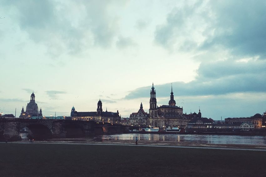 #Germany , #travel River Old City Dresden Elba