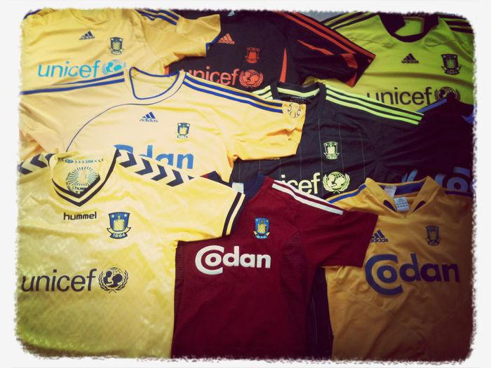 Mine forskellige Brøndby trøjer :)