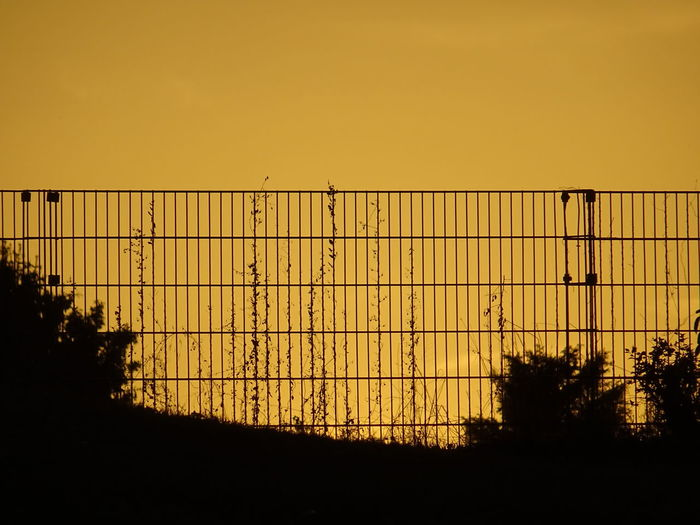 Sundown fence silhouette Beauty In Nature Hello World Beauty Beautiful Nature No People Perfection Romantic Background Defocus Sundown Sonnenuntergang Fence Beauty In Nature Beauty Nature Nature_collection Prison Sunset Silhouette Crime Barbed Wire Sky Razor Wire Boundary Barricade Barrier Forbidden Chainlink Fence Metal Industry Foundry