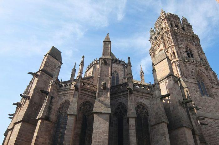 Cathédrale De Rodez Cathedral Rodez Aveyron France Religious Architecture Architecture Gothic Church Gothic Architecture Gothic