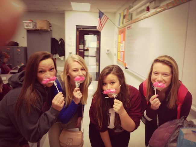 My dance team girls are the best #lovethem #candymustaches
