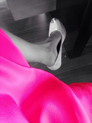 Party Time High Heels Pink Silver Shoes Vibrant Color Party Hard Stilletos Fashion ShotOnIphone IPhoneography Rampwalk Fashionable Fashion&love&beauty The Color Of Technology Style Classy Elegant Pink Dress Millennial Pink Neon Life