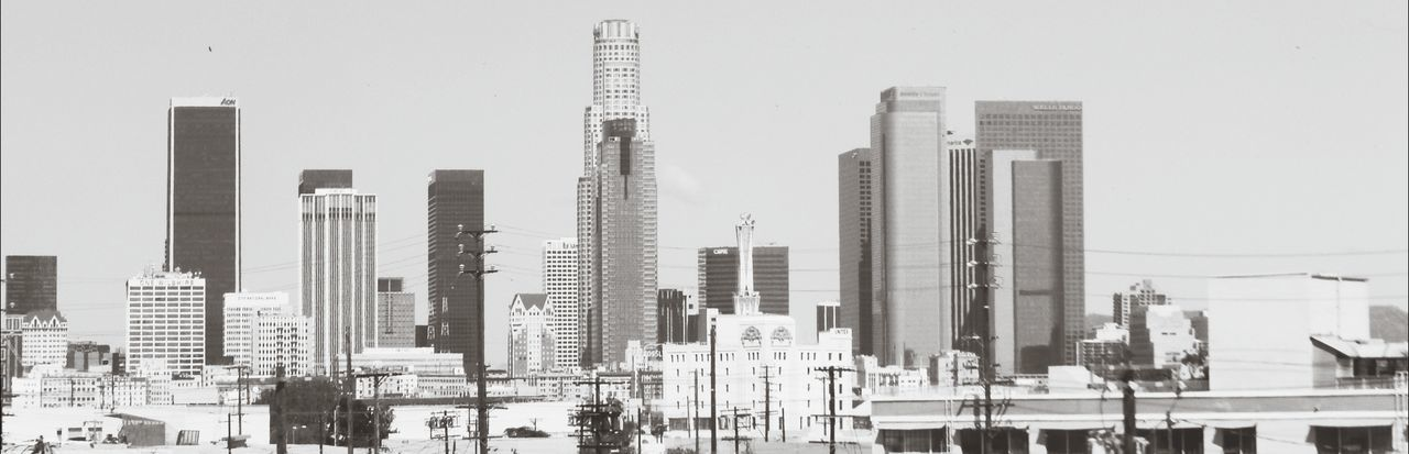 The City Of Angels Los Ángeles Contrast Black And White Photography