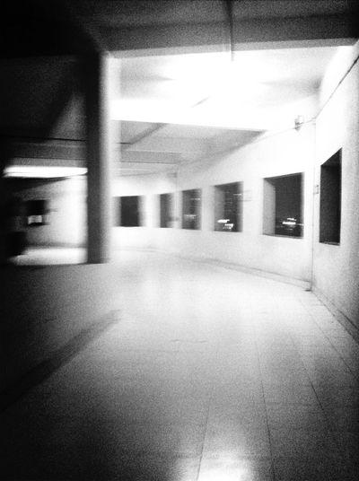 Walking Around Blackandwhite Hospital Hauntings