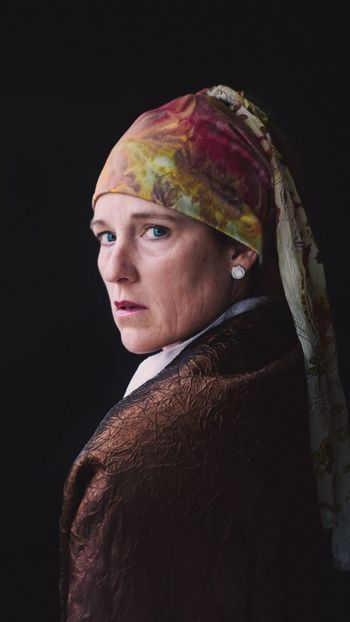 Masterpiece Woman Midlife Crisis Aging Vermeer Portrait Side View Black Background This Is Aging Real People Scarf The Portraitist - 2018 EyeEm Awards