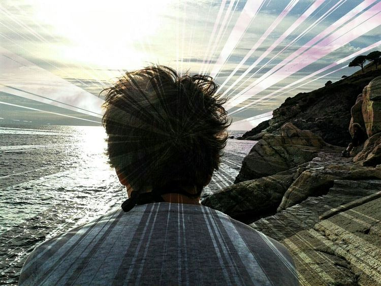 Cut And Paste the woman sunset Sea And Sky Sea Photography Me Shoulders Sunset Sky Nature  Sunlight Edit Photo Clouds And Sky Rocks And Water Beauty In Nature