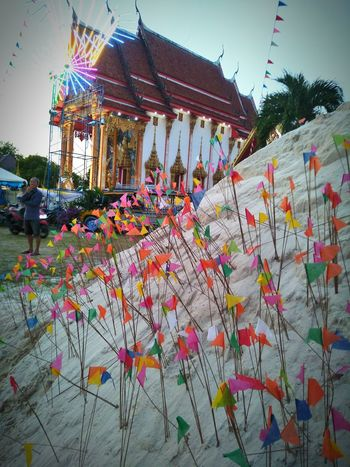 temple fair choengthale Phuket #Thailand #Phuket #travel #temple Fair Sky Architecture Multi Colored Nature Day Outdoors Flower