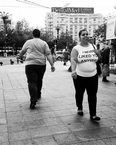 Man Woman NeverLookBack Rule Of Thirds Streetphotography Candid Humorous StreetsWithPeople Black & White Sidewalk