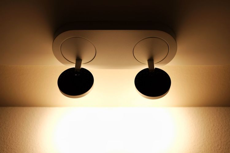 Close-up of lamp hanging at home