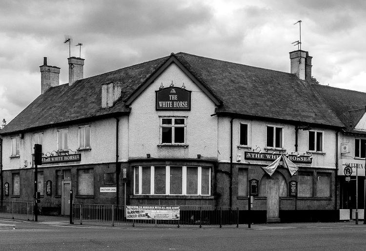The White Horse (closed), Kingsthorpe, Northampton Architecture Northampton Northampton Pubs Black And White