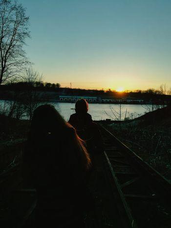 вечер закат🌇 красота наслаждение друзья