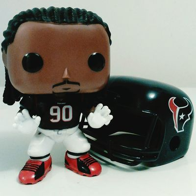 Front View One Person Indoors  Jadeveonclowney Houston Texas TexansNation Football Helmet PopFigures Studio Shot Colorful Surface Level Indoors  Figurine  Popfunko Funko Amazing Funkopopvinyl Still Life Vibrant Color Toy Football Player HoustonTexans People Statue
