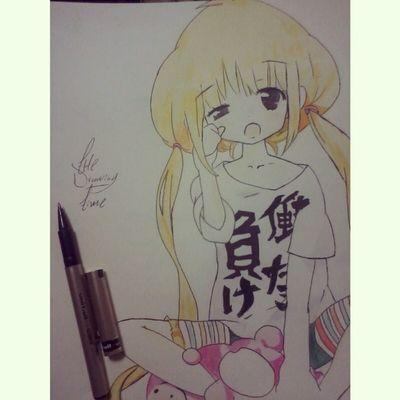 I finished my drawing such cute comments that came out ugly Animecute Anime Cute Animecutegirl animegirl manga prismacolor fun nicemanga instamanga mangacute lolit animefans