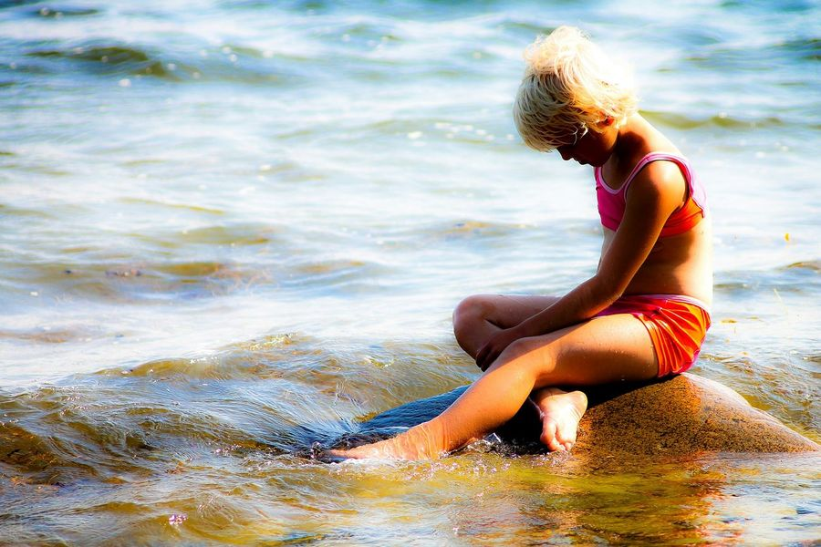 The mermaid of Sweden. Photographer Sweden Nature Mermaid Photo Scout Portrait Summer Kids Waterscape