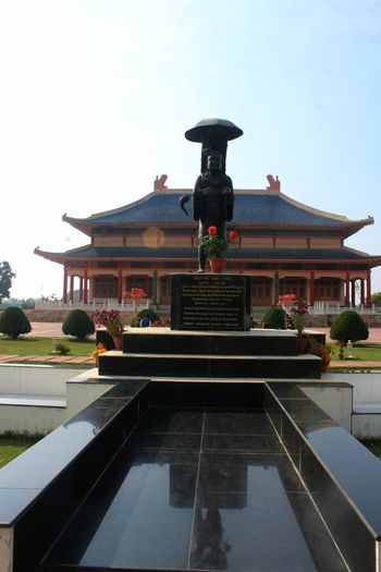 Xuanzang memorial, nalanda Xuanzang Temple Xuanzang Hsuan Tsang Temple Architecture Built Structure Building Travel Destinations Religion Belief Building Exterior Clear Sky Nature Place Of Worship Day Spirituality Tiled Floor Travel No People