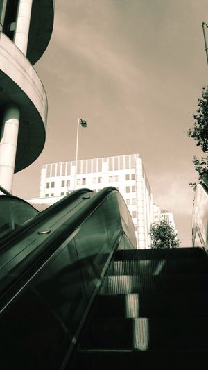 Metro station, exit way - Marc Bestgen metro Subway station Urban city Commuting sepia Public Transportation