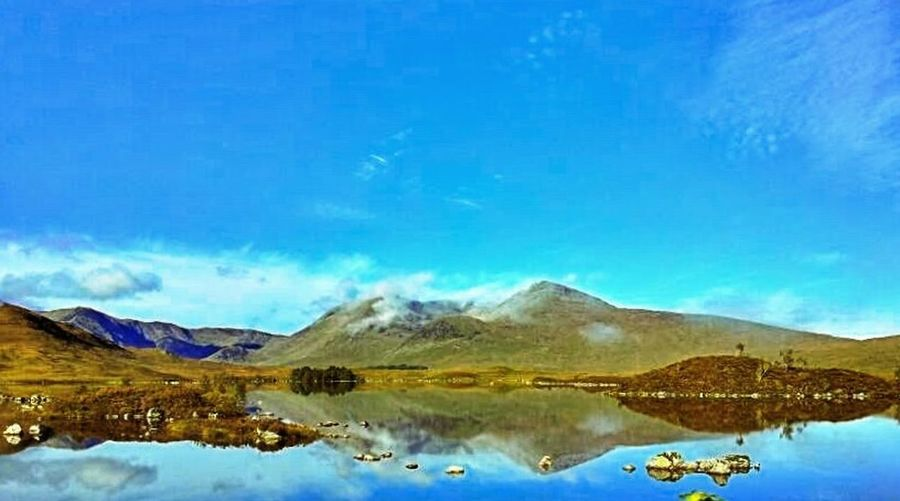 Blue Sky Hills Reflections Highlands Clouds And Sky Feel The Journey