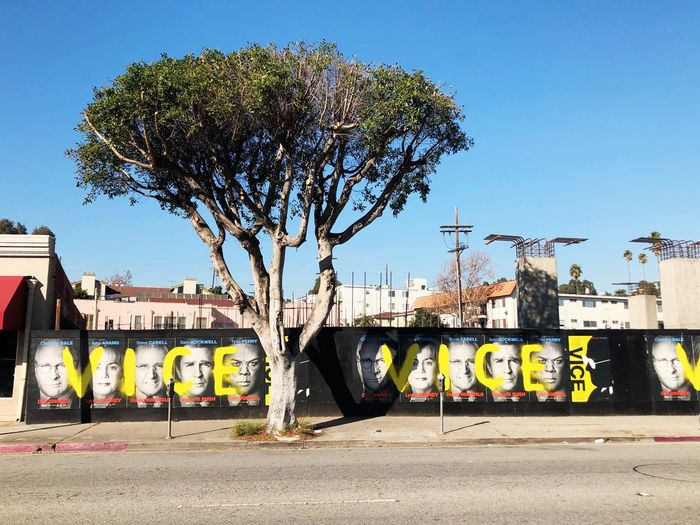 Santa Monica Blvd Cali Street Los Angeles, California Tree Plant Sky Nature Architecture Clear Sky Built Structure