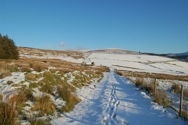 Landscape Preseli Mountain Snow Out For A Walk Clouds And Sky Pembrokeshire Fields