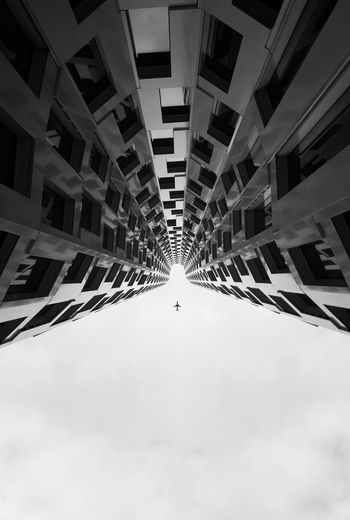 Flipper Architecture Skyscraper Development Low Angle View Built Structure City Modern Indoors  Urban Skyline People Day Cityscape Sky Bnw Black & White Black And White Blackandwhite Cloud - Sky EyeEm Selects Flight Plane Cityscape City Modern No People Berlin Love The Architect - 2018 EyeEm Awards The Creative - 2018 EyeEm Awards My Best Photo The Architect - 2019 EyeEm Awards