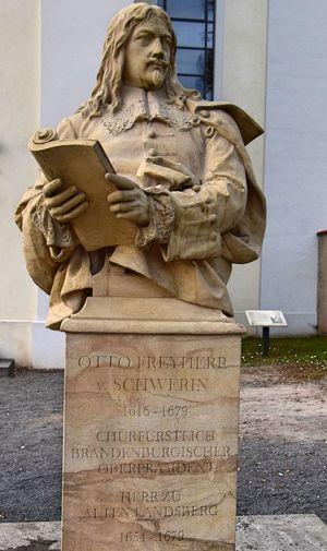 Schlossgut Altlandsberg Architecture Art And Craft Built Structure Day Memorial No People Outdoors Sculpture Sky Statue Text