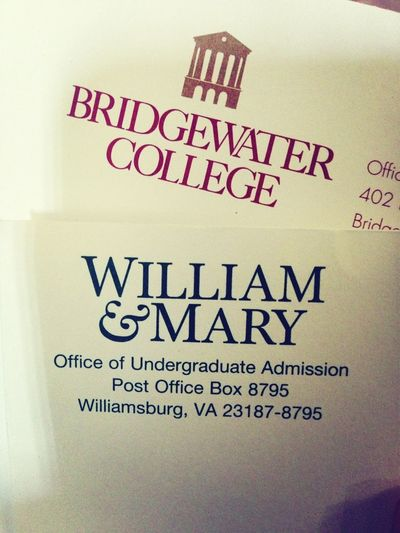 More Letters Frim Colleges :)