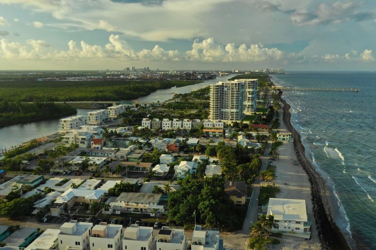Above it All Aerial Shot Dji Mavic 2 Pro Architecture Built Structure City Cityscape Cloud - Sky Day Florida High Angle View Horizon Land Nature No People Outdoors Residential District Scenics - Nature Sea Sky Water