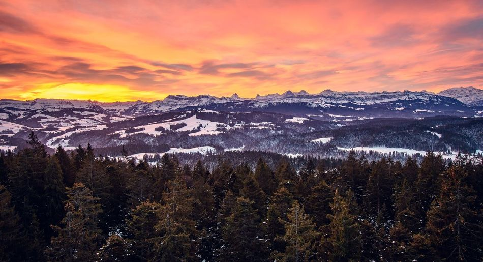 Snow Mountain Mountain Range Landscape Sunset Winter Nature Outdoors Sky Beauty In Nature Cold Temperature Scenics Cloud - Sky Mountain Peak No People Day