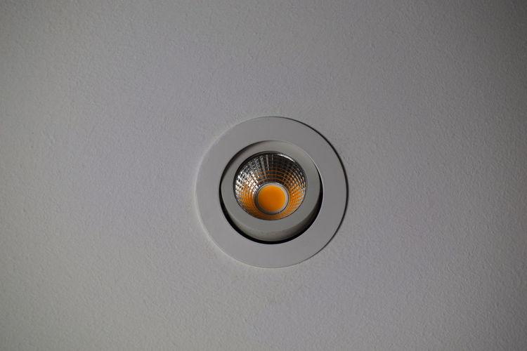 LED LEDLights Ceiling Circle Close-up Electric Lamp Geometric Shape Indoors  Led Spots Lighting Equipment No People Still Life Studio Shot