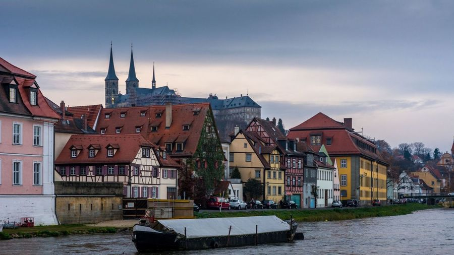 Architecture Cityscape City Outdoors Sky No People Day Medieval Bamberg  UNESCO World Heritage Site Europe Deutschland Bayern Oberfranken Bavaria Travel Destinations Building Exterior Architecture Cityscape Cloud - Sky Michaelsberg Bamberg Michaelsberg Abtei Water