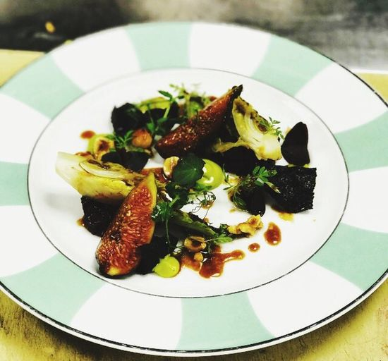 Plate Healthy Eating Freshness Ready-to-eat Food Indoors  Food And Drink Salad No People Serving Size Close-up Day Fig Tarragon Beetroot Claridge's Hotel
