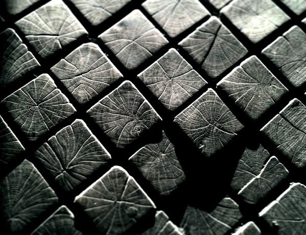 Textured  Close-up Full Frame Pattern No People Black And White Wood Grain Wood - Material Sidewalk