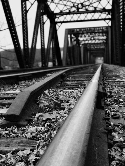 Railroad Track Transportation Rail Transportation Railroad Tie Railroad Bridge Travel Industrial Railroadphotography Weathered Warning Sign Industrial Photography Outdoors Railroad Train Tracks Bridge Bridges