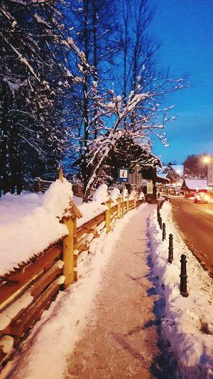Zakopane Poland Winter Streetlights Galosikphotigraphere GalosikFotografę