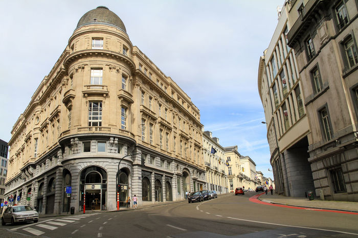 A view from streets of Brussels / Belgium Architecture Architecture Belgium Brussels Bruxelles Building Exterior Business Finance And Industry Car Cars City Day Interrail No People Outdoors Restaurant Road Road Sky Travel Travel Destination Travel Destinations Wide Wide Angle
