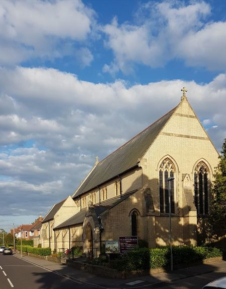 Architecture Building Exterior Cloud - Sky No People Outdoors History St Luke's Church, Parkstone England 🌹 Dorset Uk Blue Sky And Clouds Church Early 20th Century Architecture Street Samsung Galaxy S7 Summertime Summer Evening Church Architecture Anglican Church