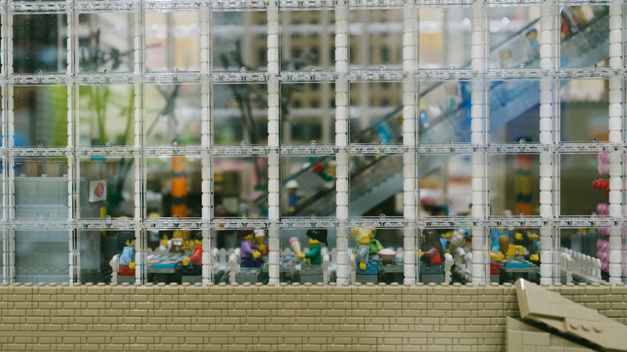LEGO Legophotography Day No People Focus On Foreground Outdoors Built Structure Container Barrier Architecture Transportation Selective Focus Glass - Material Window Close-up Fence Boundary Nature Full Frame Backgrounds Transparent Side By Side