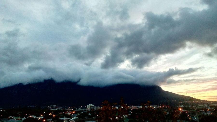 Sunrise Table Mountain Beauty In Nature Mountain Sky Architecture Cloud - Sky