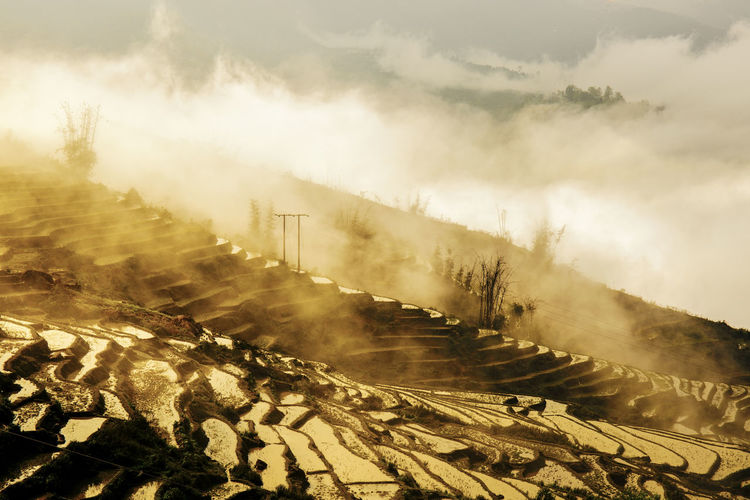 Terraced fields in the clouds Clouds And Sky Heritage Mountains Photography Sunrise Travel Photography Vietnamphotography Vietnamtravel