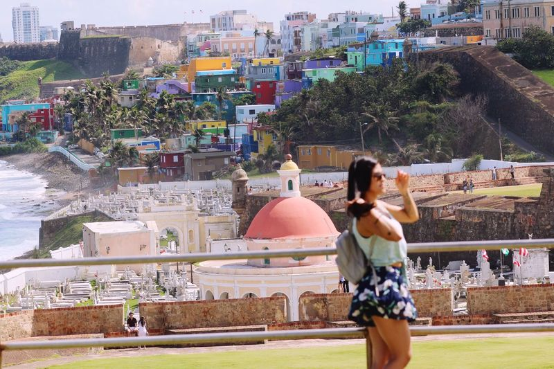 Traveling leaves you speechless, but turns you into a storyteller Old San Juan Sanjuan Puerto Rico Sanjuan Puerto Rico LaPerlaPR 🌊 Laperla Rear View Architecture Built Structure Building Exterior Real People Outdoors An Eye For Travel Women Young Adult Lifestyles