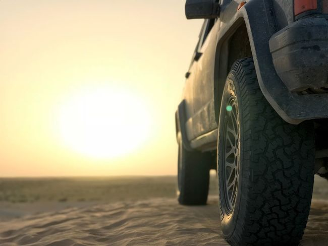 Sitting on the top 💪🏽 Sand Beach Desert Outdoors Off-road Vehicle Sunset Car Transportation Tire Land Vehicle Clear Sky Close-up 4x4 Sand Dune Nature Travel Sky Day
