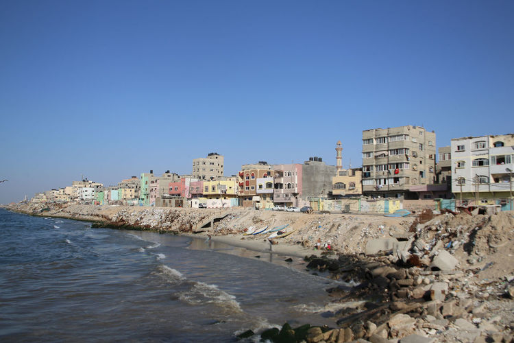 Architecture Blockade Coastline Gaza Gaza-Palestine Israel Middle East Palestine Sea Tranquil Scene War Waterfront