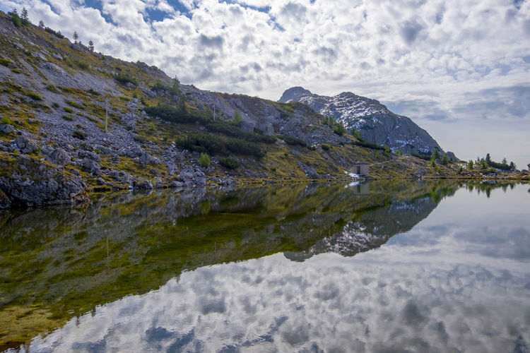 Beauty In Nature Cloud - Sky Day Lake Mountain Nature No People Outdoors Reflection Scenics Sky Tranquil Scene Tranquility Water Waterfront
