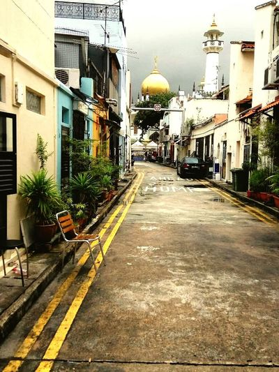 Singapore Arabic Style Street Photography Architecture No People Just A Chair Mosk Golden