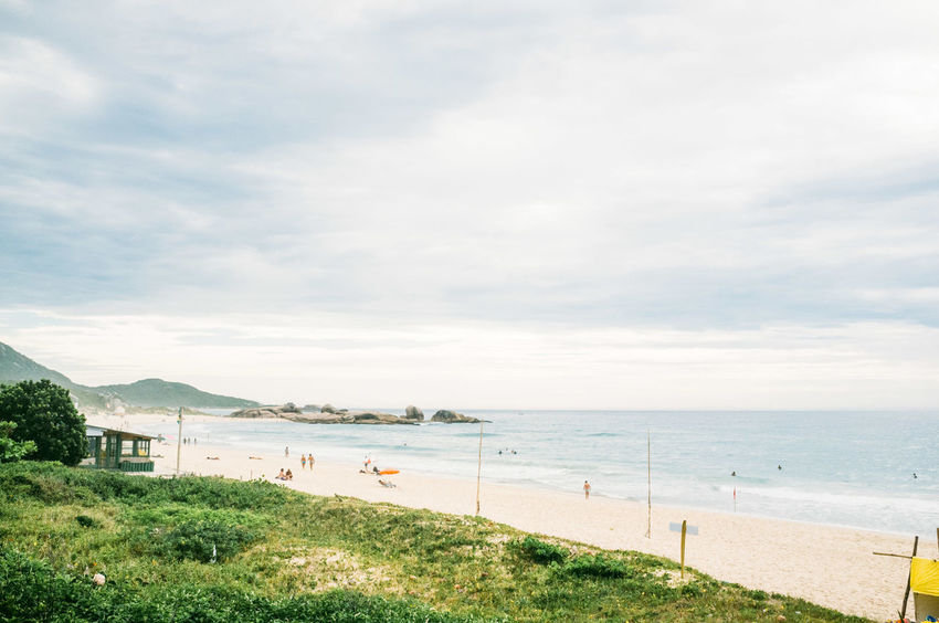 Beach Beauty In Nature Brazil Cloud - Sky Day Florianópolis Grass Horizon Over Water Nature No People Outdoors Sand Scenics Sea Shore Sky Tranquil Scene Tranquility Vacations Water